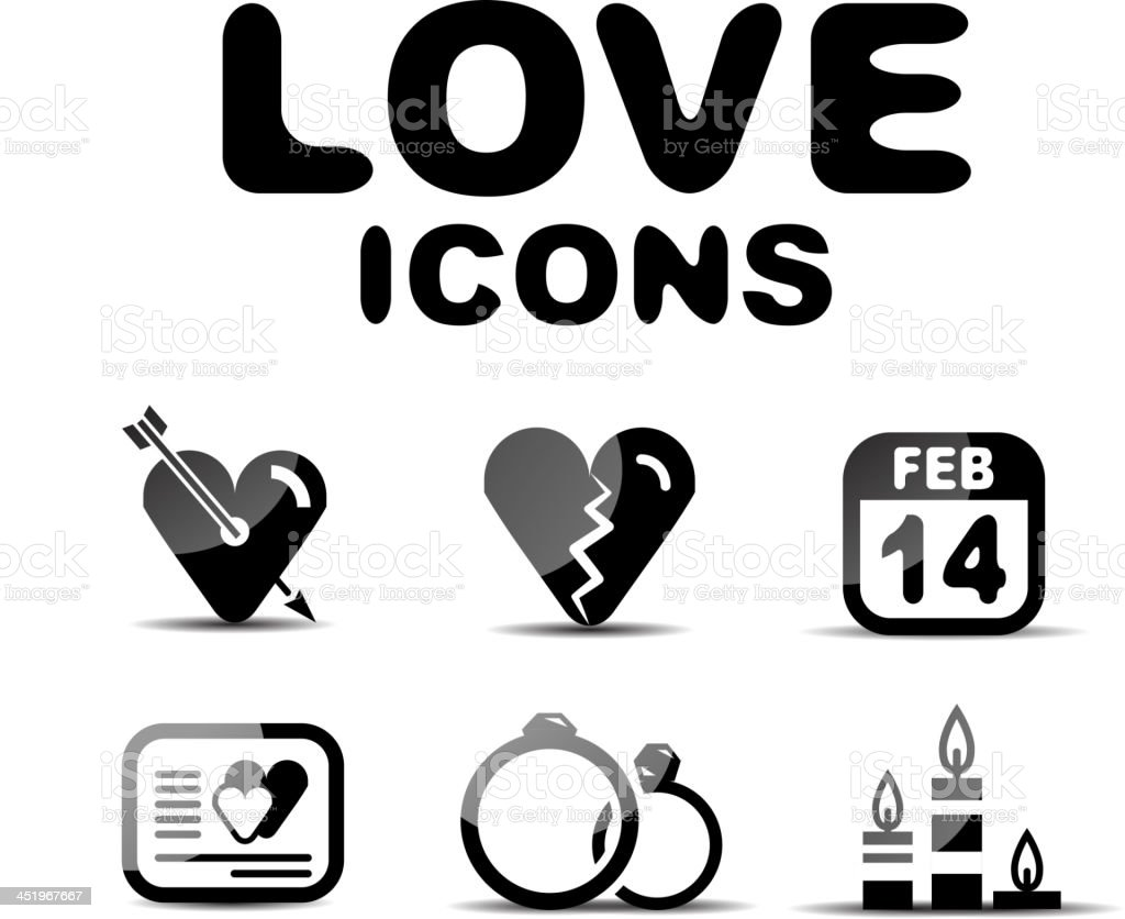Vector love icons royalty-free stock vector art