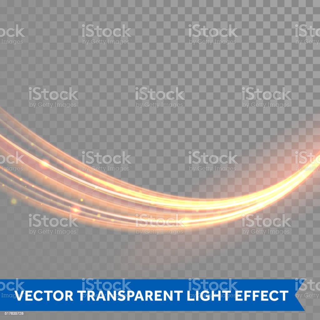 Vector magic glowing light trail. Glitter fiber wave. vector art illustration