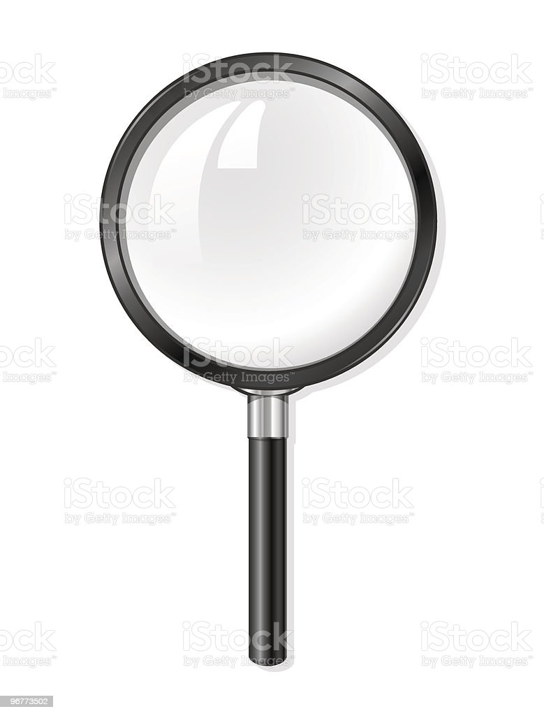 vector magnifying glass tool royalty-free stock vector art