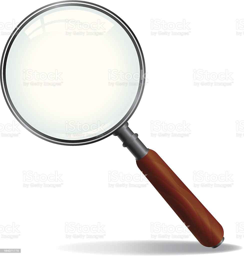 Vector Magnifying Glass vector art illustration