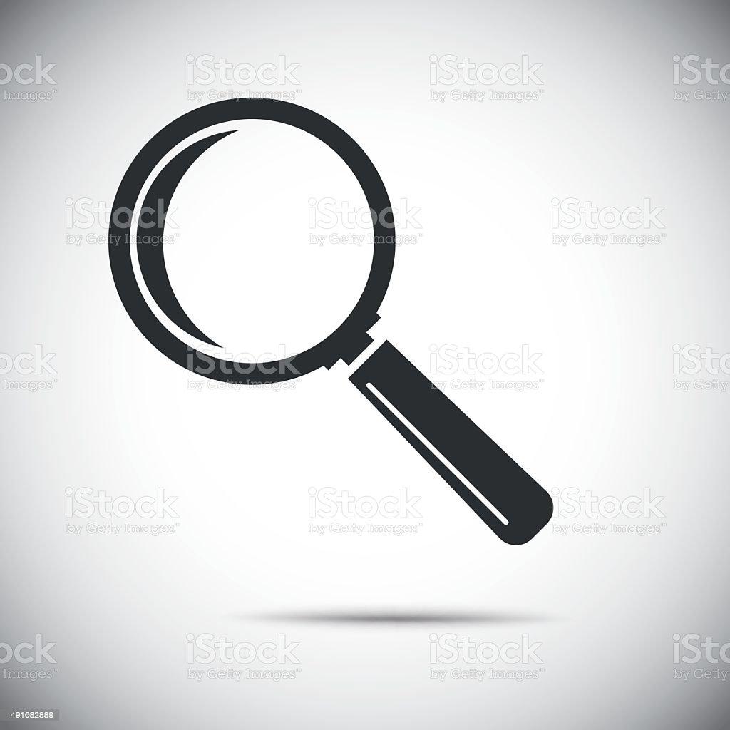vector magnifying glass vector art illustration