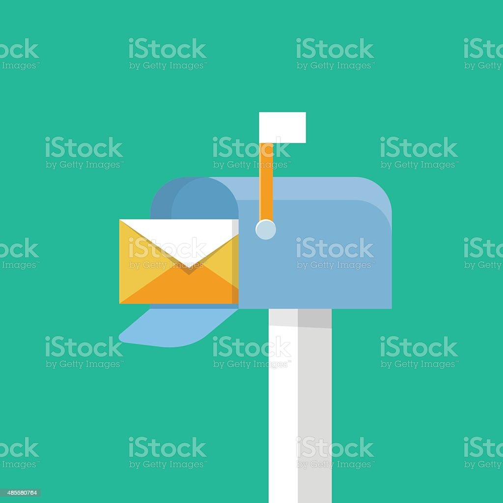 Vector mailbox icon vector art illustration