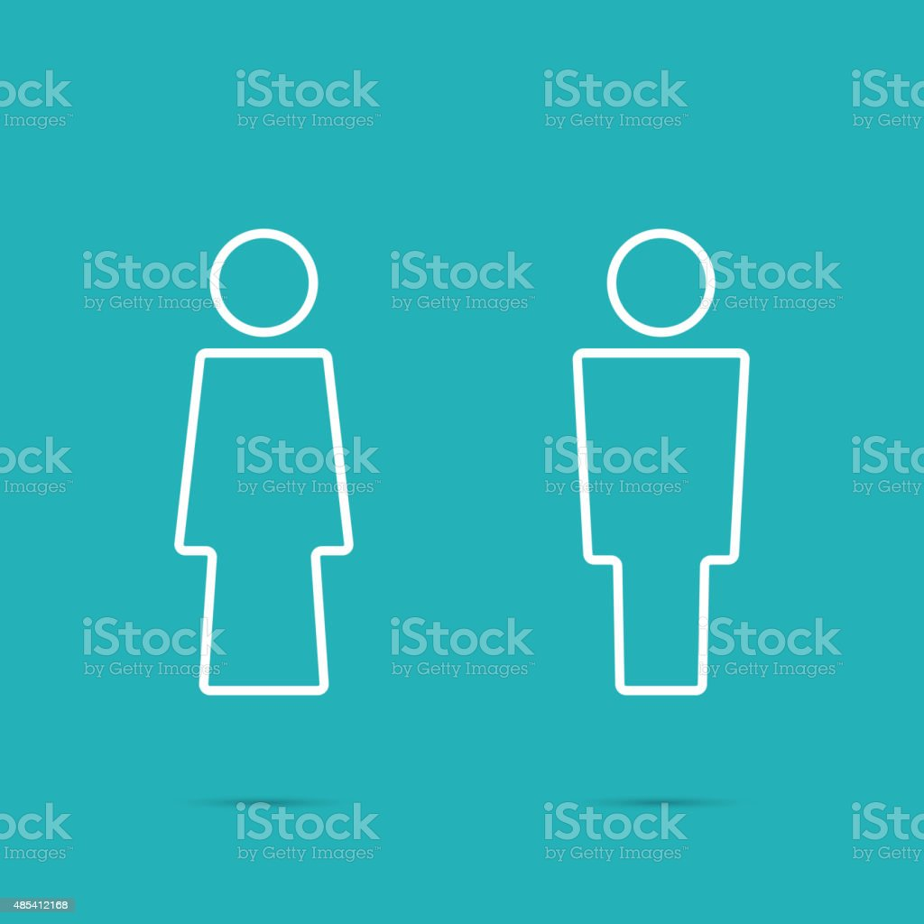 Vector man and woman icons vector art illustration