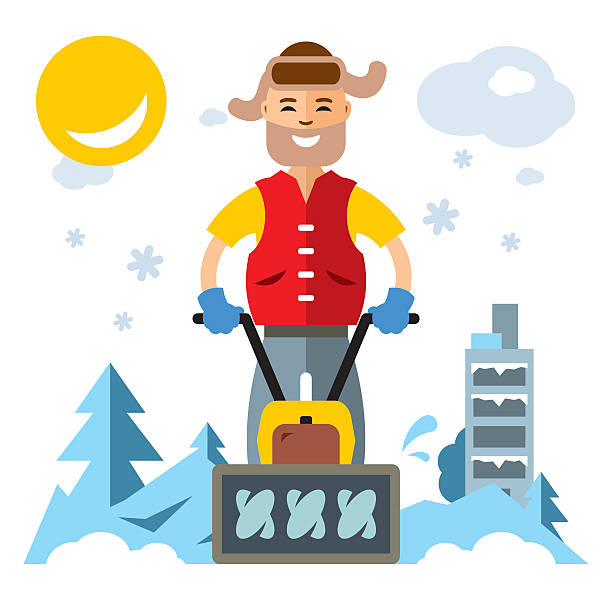Snow Blower Clip Art, Vector Images & Illustrations - iStock