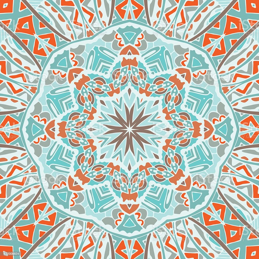 Vector mandala seamless pattern vector art illustration