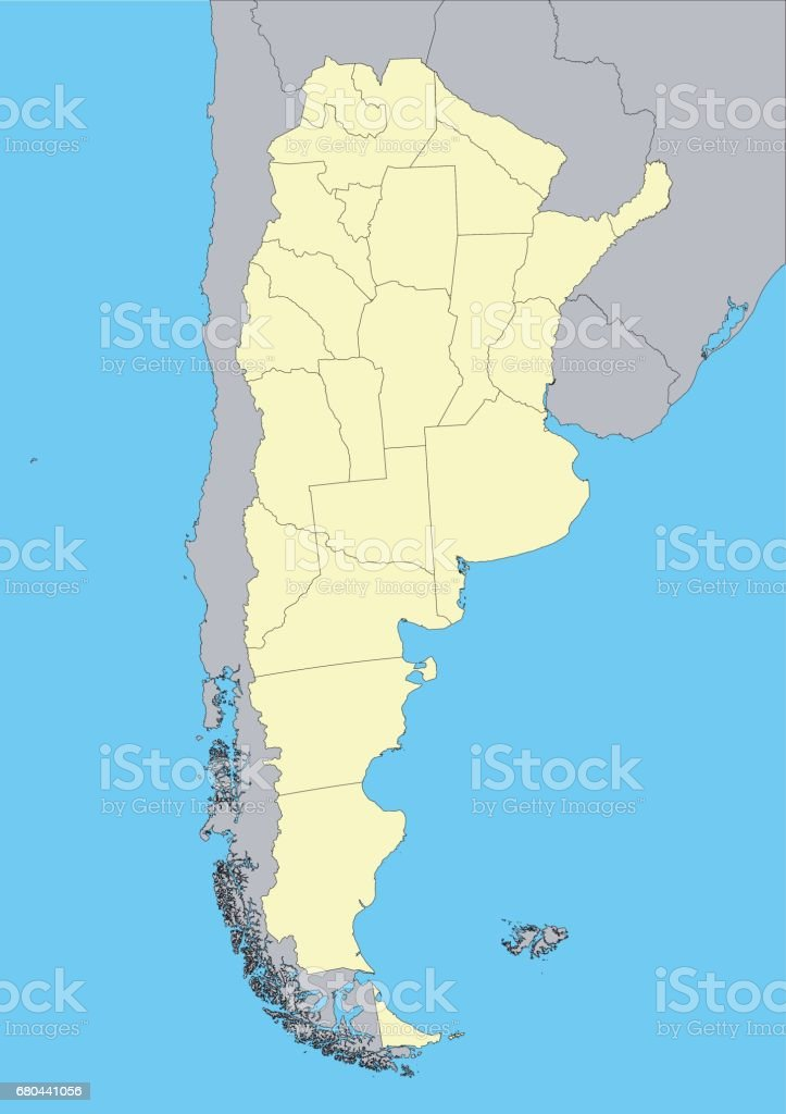 vector map of Argentina vector art illustration