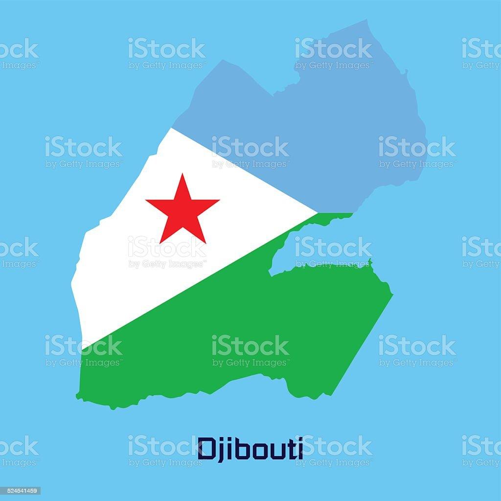 vector map of  Djibouti vector art illustration