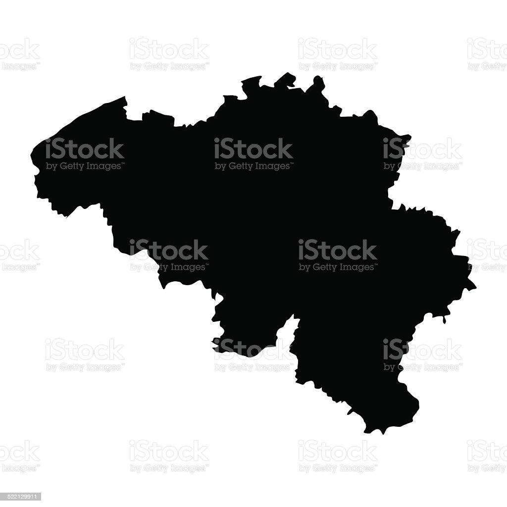 vector map of map of Belgium vector art illustration