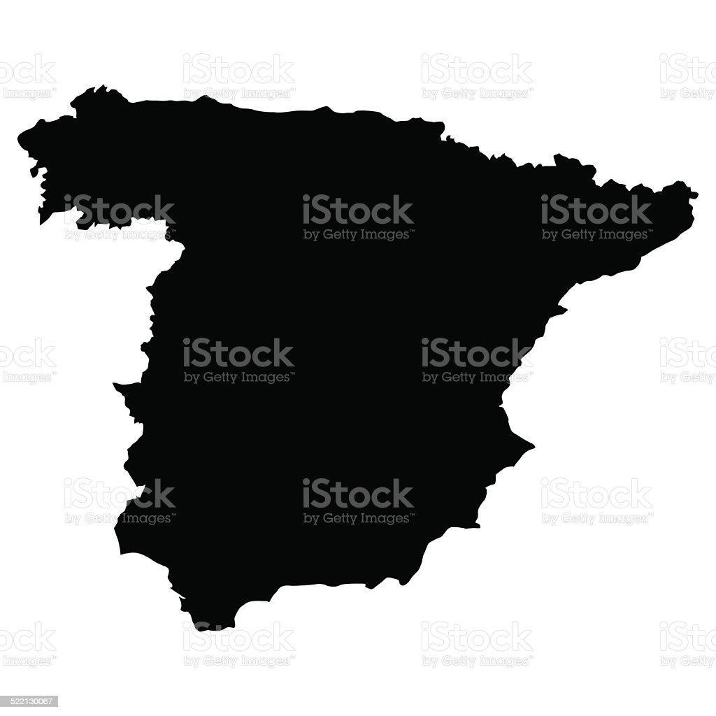 vector map of Spain vector art illustration