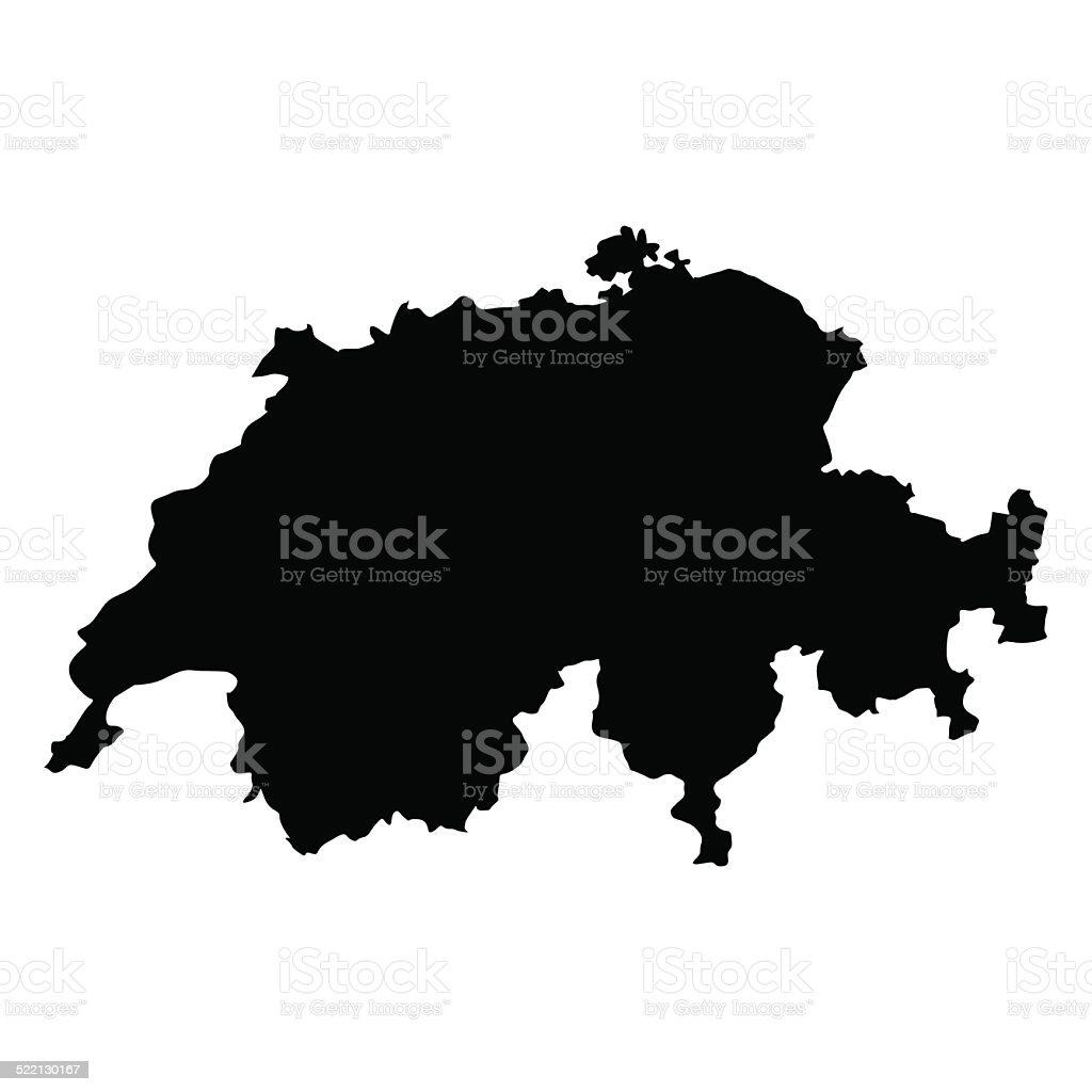 vector map of Switzerland vector art illustration