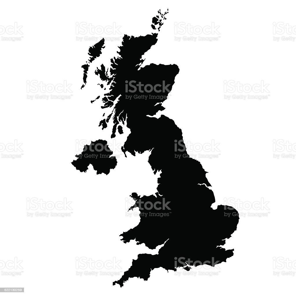 vector map of United Kingdom vector art illustration