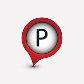 vector map single pointer parking