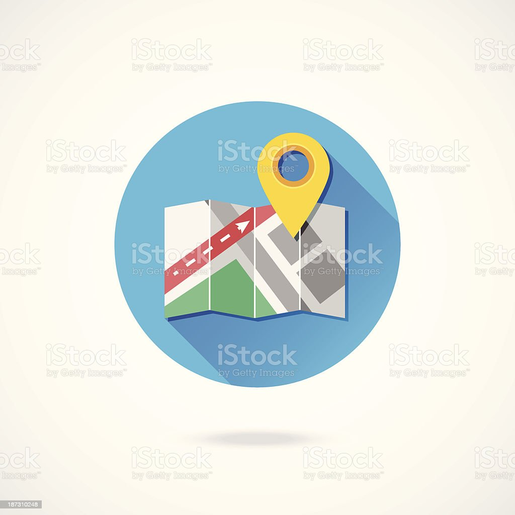 Vector Map with Label Icon royalty-free stock vector art