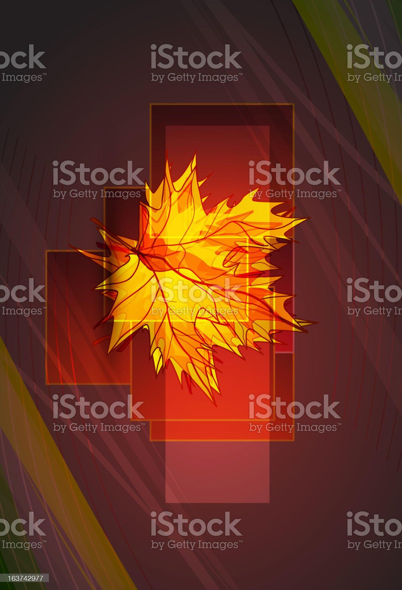 Vector maple leaf autumn background royalty-free stock vector art