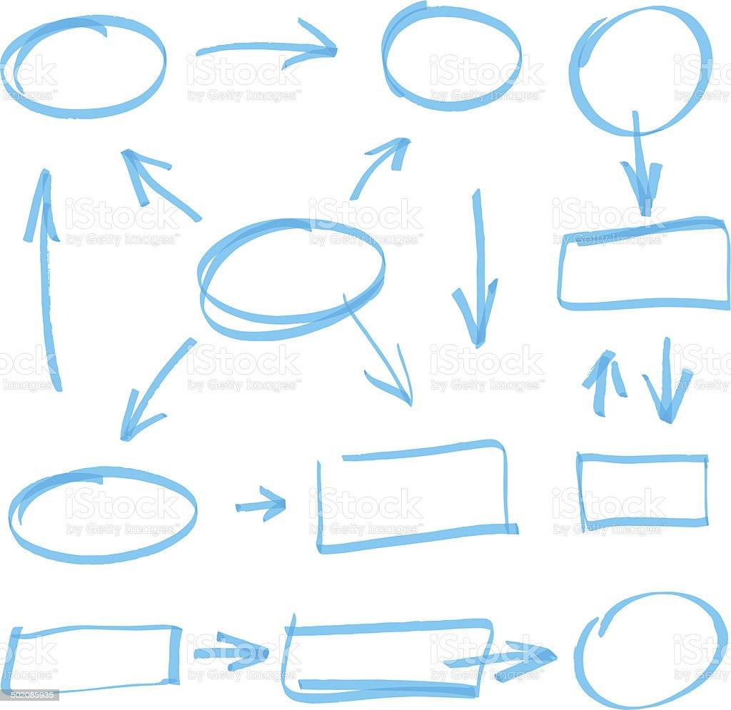 vector marker elements vector art illustration