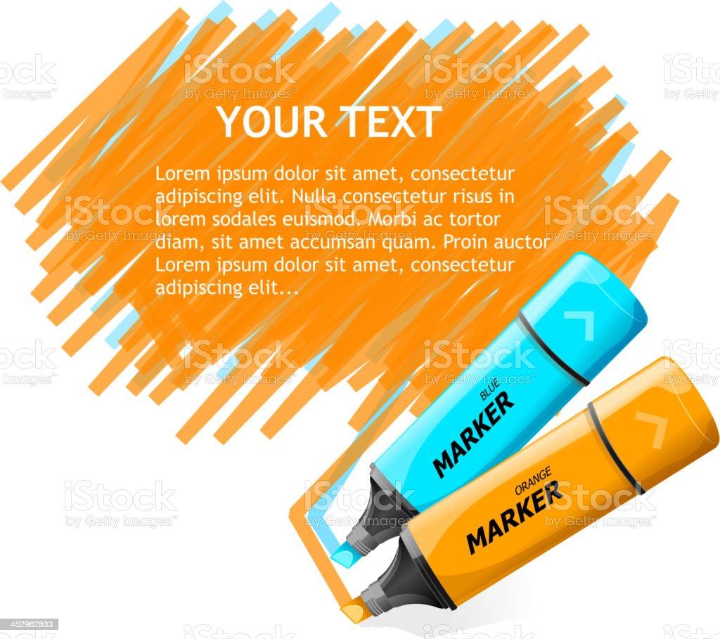 Vector markers text box royalty-free stock vector art