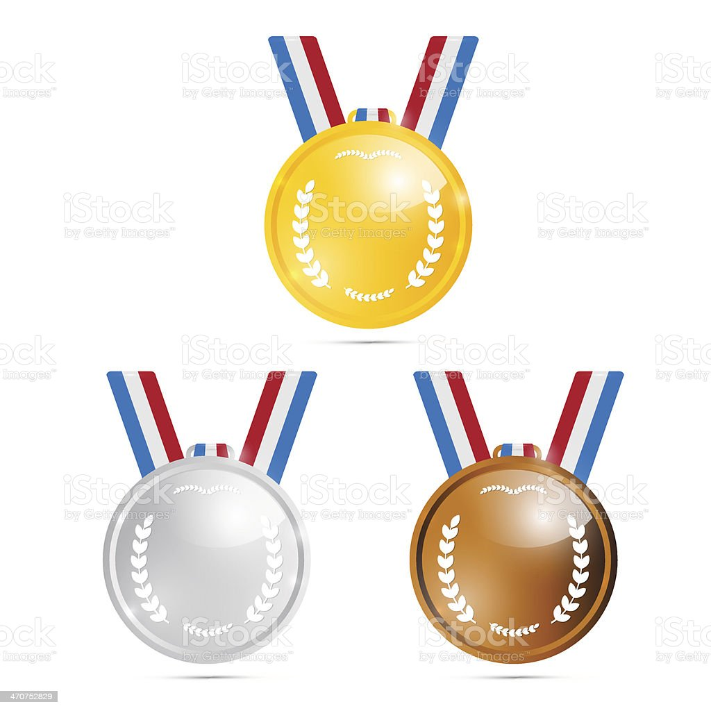 Vector Medals Set royalty-free stock vector art