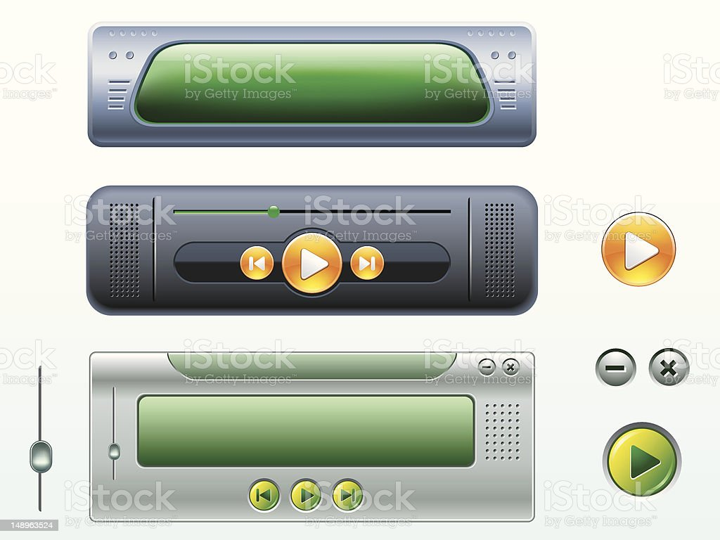 Vector media player elements royalty-free stock vector art