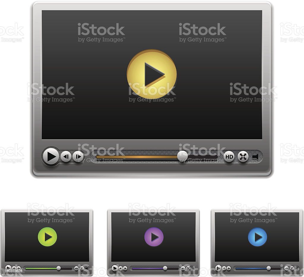 Vector media players royalty-free stock vector art