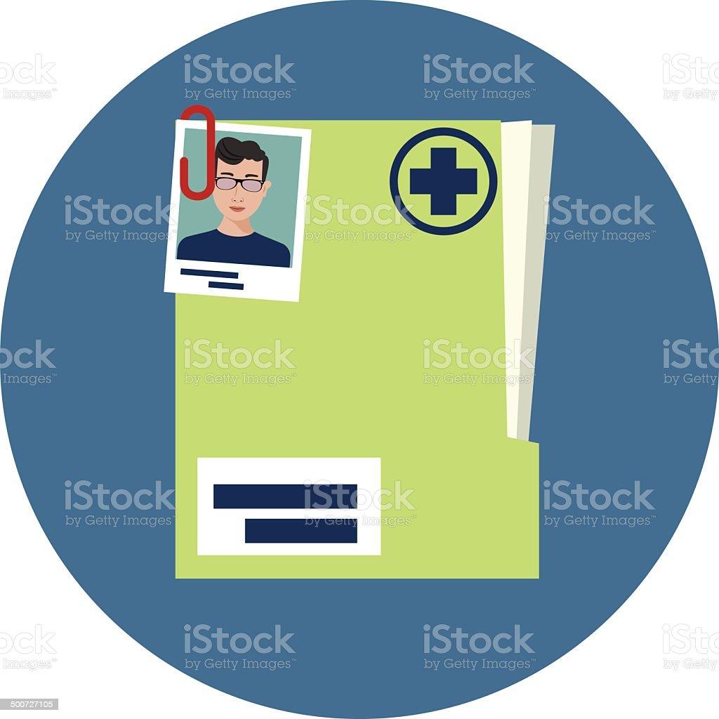 Vector Medical History vector art illustration