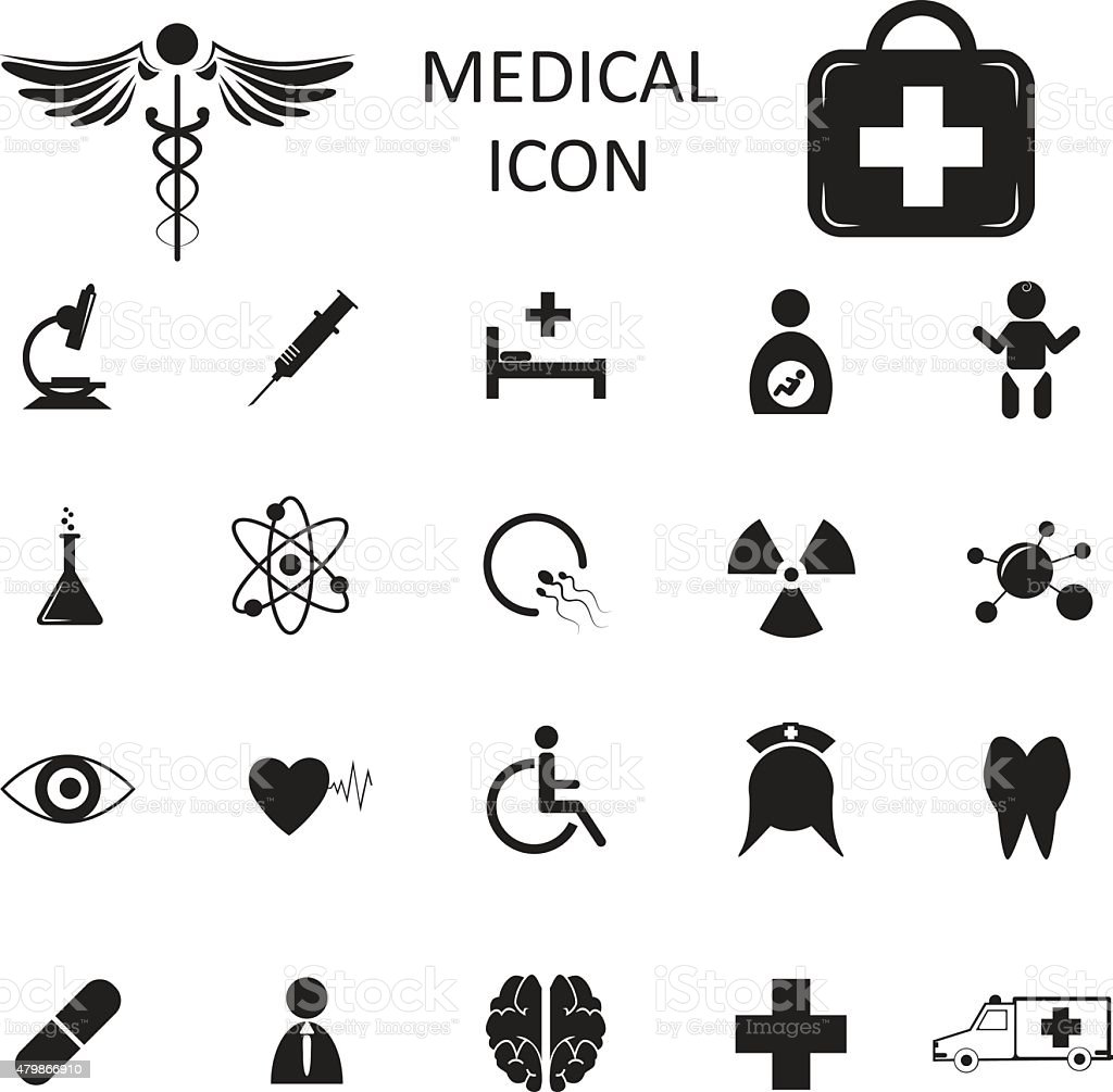 vector medical icon isolated vector art illustration