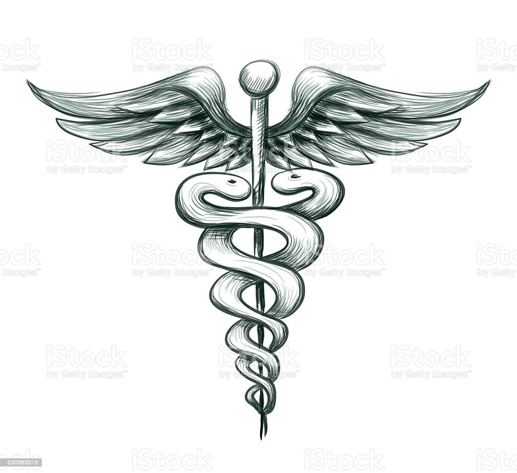 Vector Medical Symbol Caduceus vector art illustration