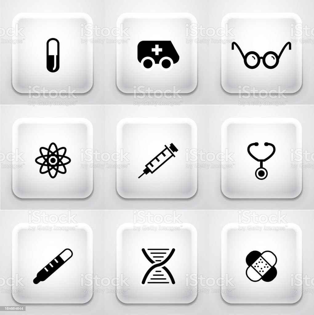 Vector medicine icons royalty-free stock vector art