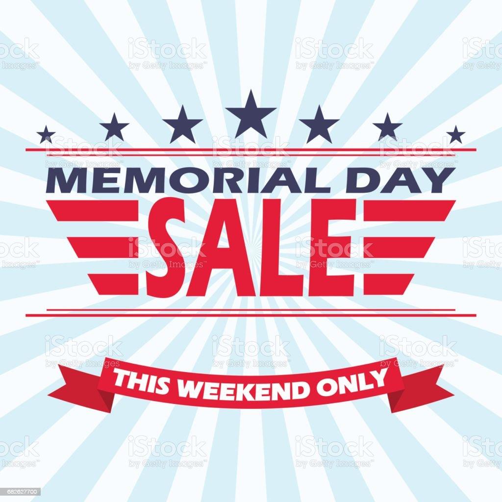 Vector Memorial Day Sale banner design. Background for Memorial Day Sale. vector art illustration