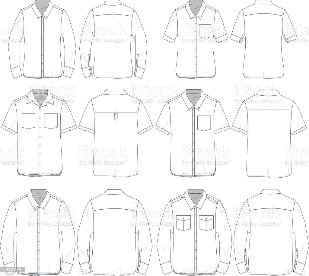 Vector Men and Women tee templates vector art illustration
