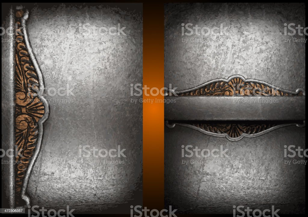 Vector metal background set royalty-free stock vector art