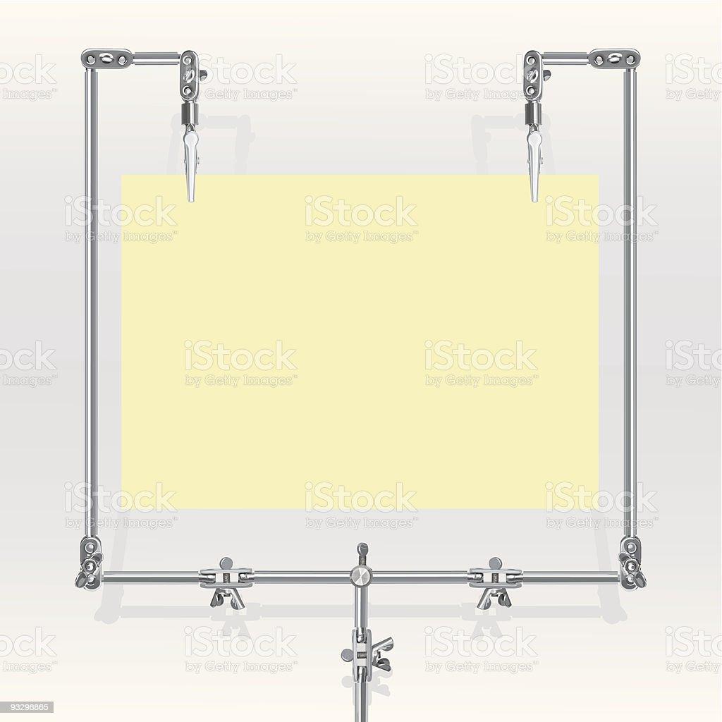 Vector metal frame for paper sheet(CMYK) royalty-free stock vector art