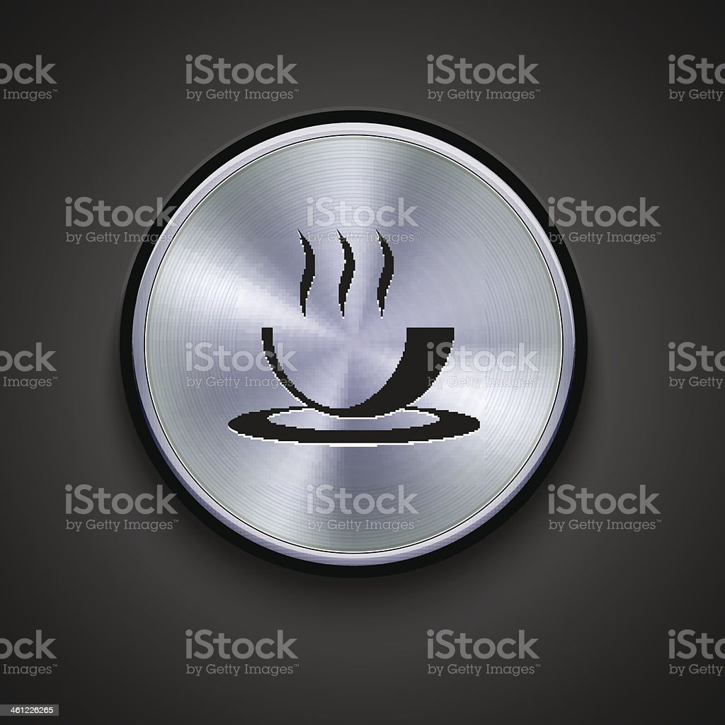 vector metal icon on gray background. Eps10 royalty-free stock vector art