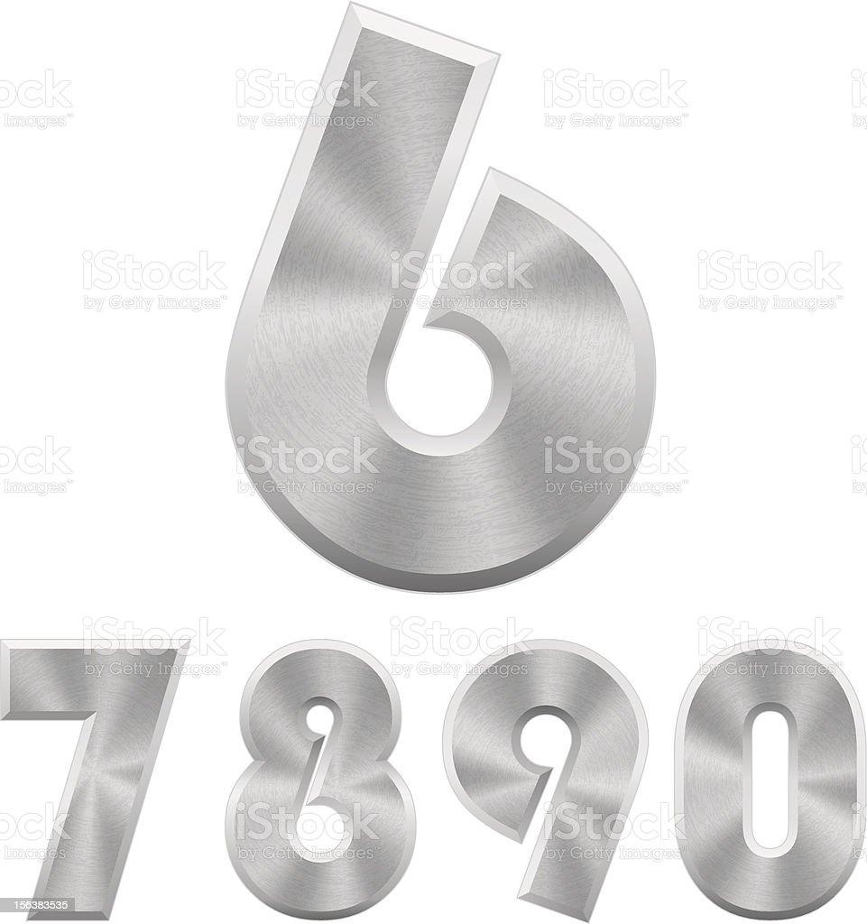Vector metal numbers. Part 2. royalty-free stock vector art