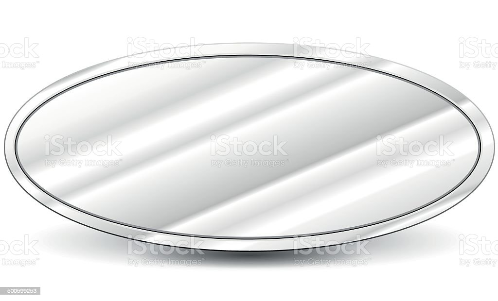Vector metal oval background royalty-free stock vector art