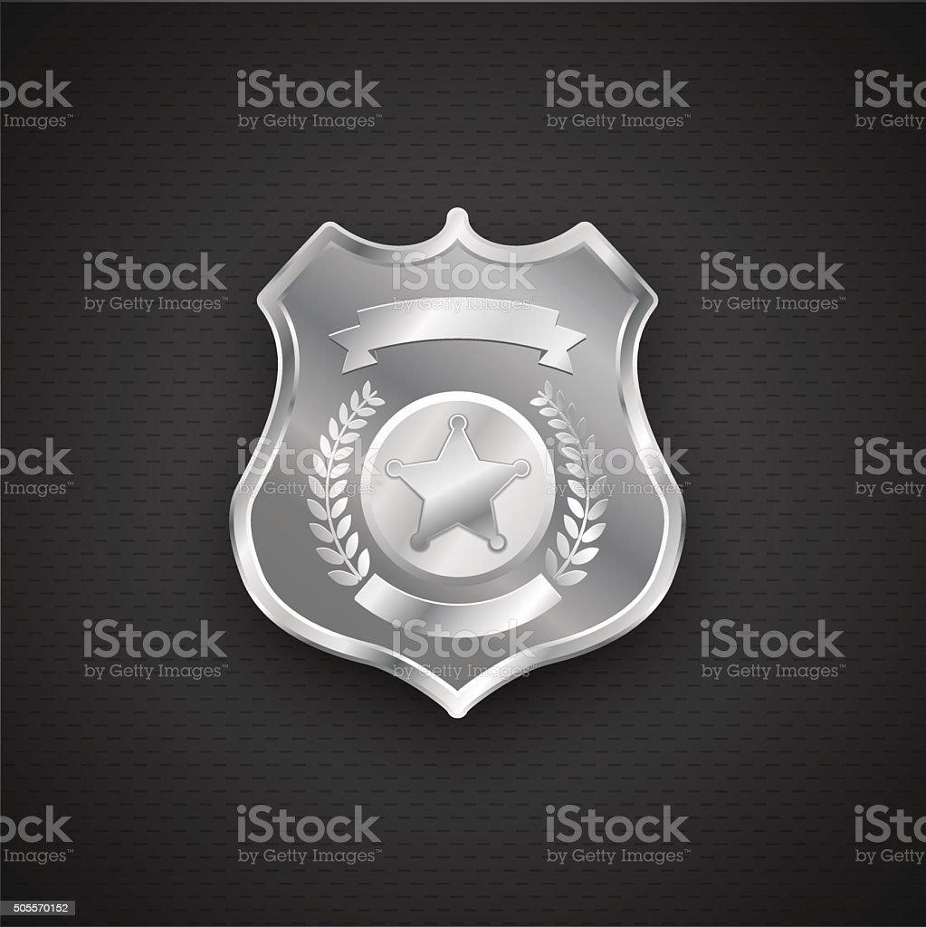 Vector metal Police Badge eps 10 vector art illustration