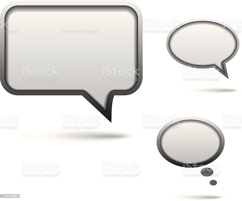 Vector metal speech bubbles royalty-free stock vector art