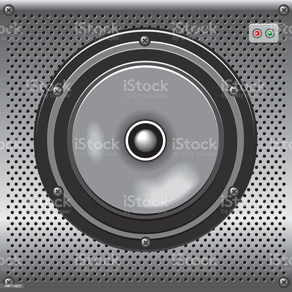 vector metalic loudspeaker vector art illustration