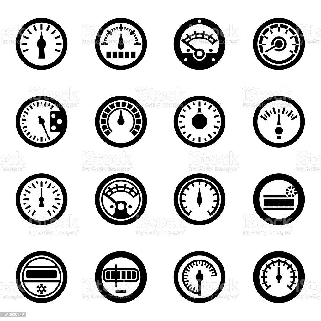 Vector Meter icon set vector art illustration