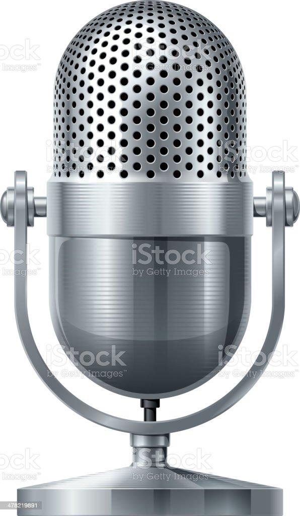 Vector microphone vector art illustration