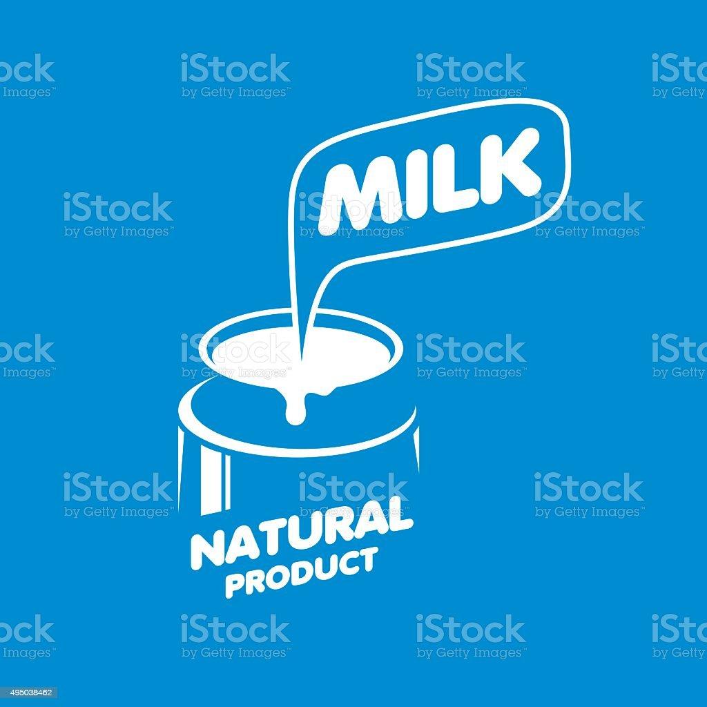 Vector Milk icon vector art illustration