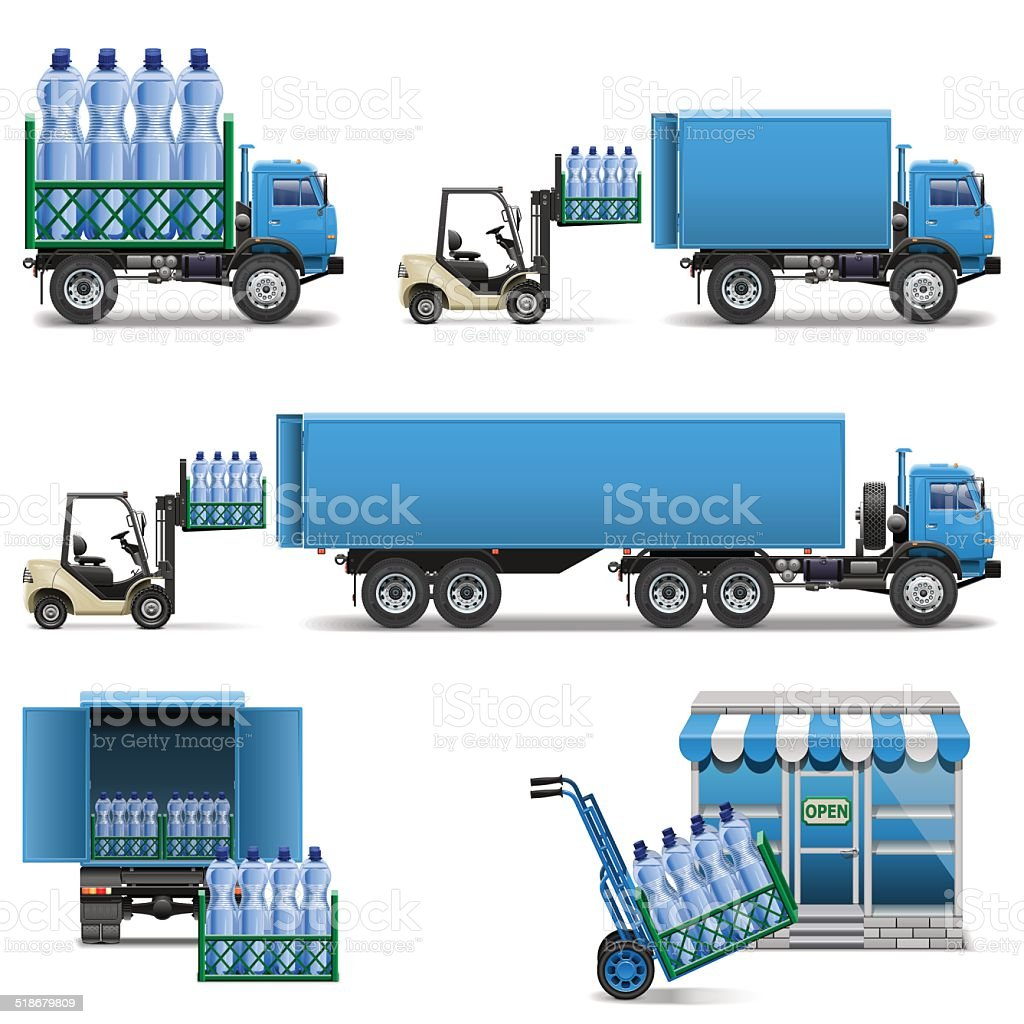 Vector Mineral Water Shipping vector art illustration