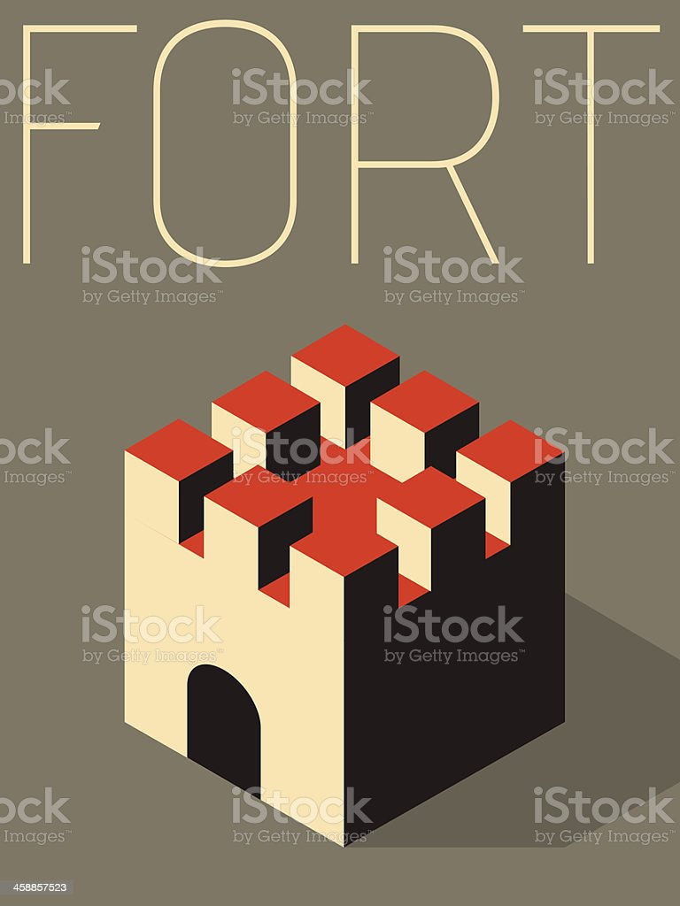 Vector Minimal Design - Fort vector art illustration