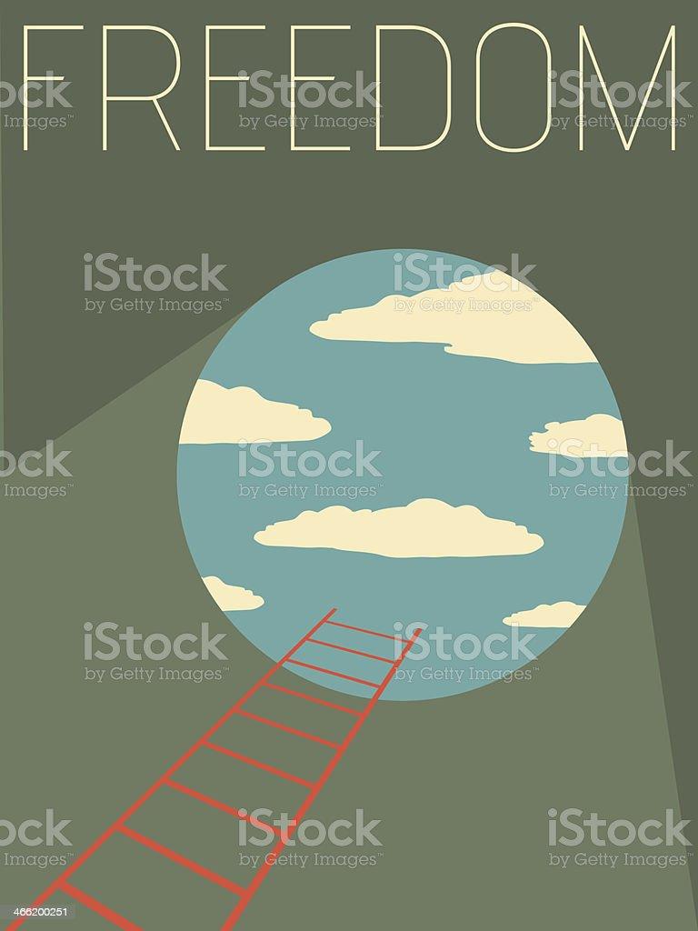Vector Minimal Design - Freedom vector art illustration