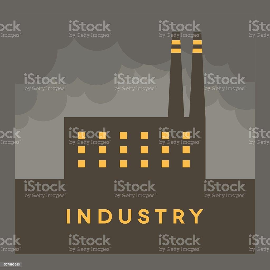 Vector Minimal Poster: Industry vector art illustration