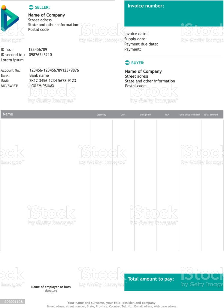 Vector minimalist invoice vector art illustration