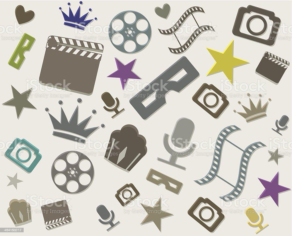 Vector minimalistic cinema background royalty-free stock vector art