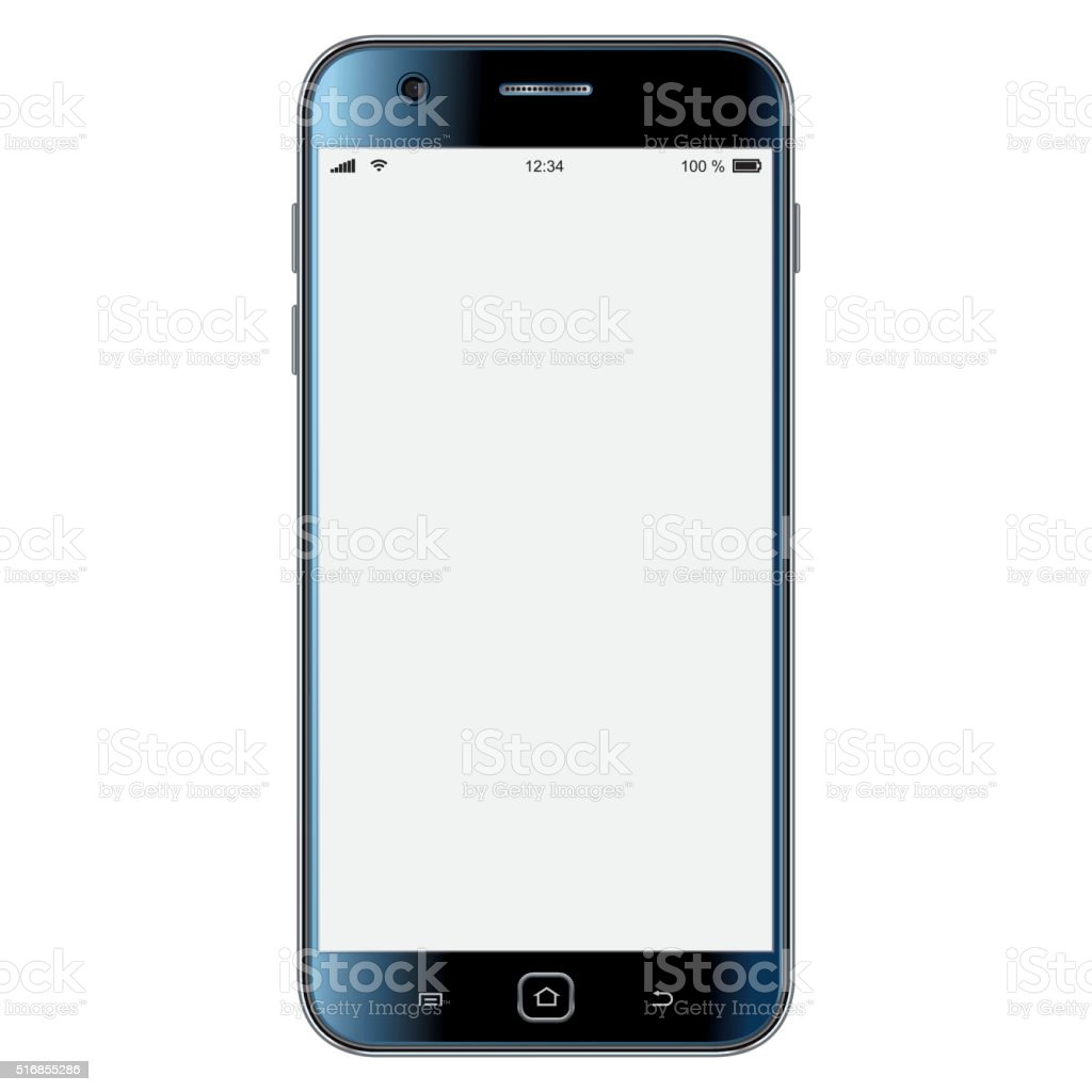 Vector mobile phone template stock photo