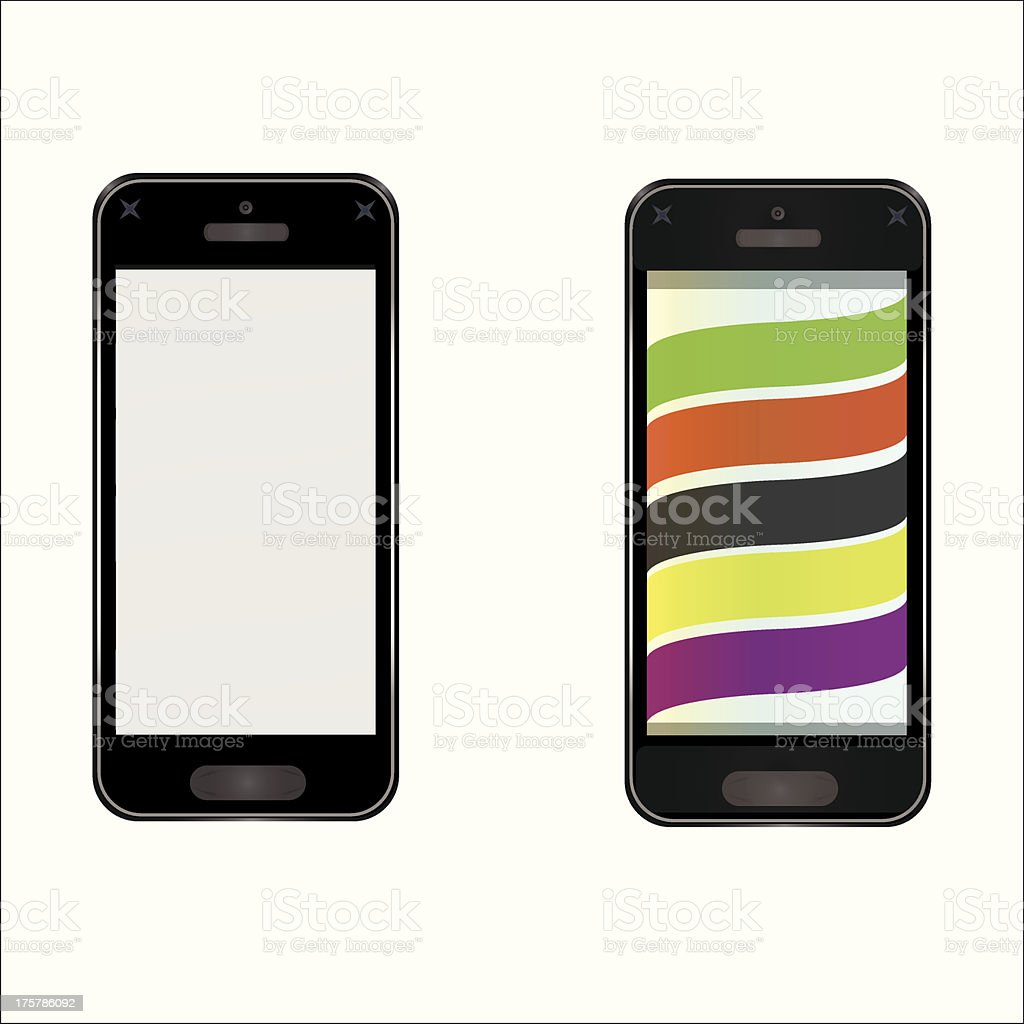 Vector mobile phone vector art illustration