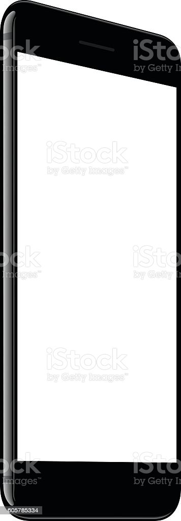 vector, mock up phone white screen perspective view vector art illustration