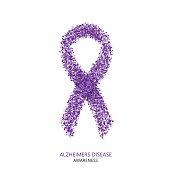 Vector modern ALZHEIMERS DISEASE awareness circles desigen